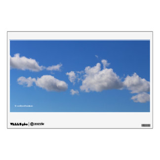 Fluffy White Clouds in the Blue Sky Wall Sticker