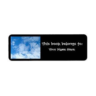Fluffy White Clouds Return Address Label
