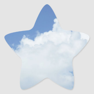 Fluffy White Clouds Star Sticker