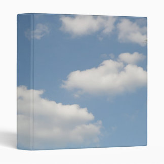 Fluffy White Cumulus Clouds Binder