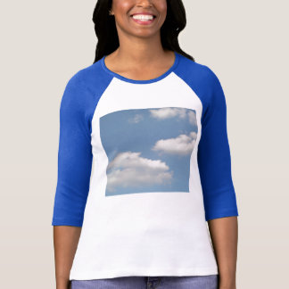 Fluffy White Cumulus Clouds Ladies T Shirt
