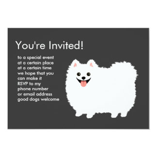Fluffy White Pomeranian Card