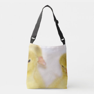 Fluffy Yellow Ducklings Crossbody Bag