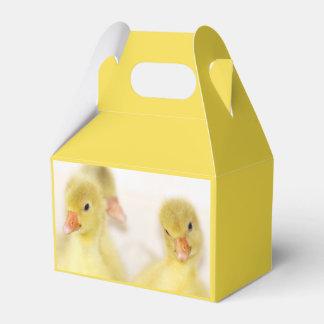 Fluffy Yellow Ducklings Favor Box