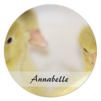 Fluffy Yellow Ducklings Plate