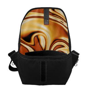 fluid art01 golden messenger bag