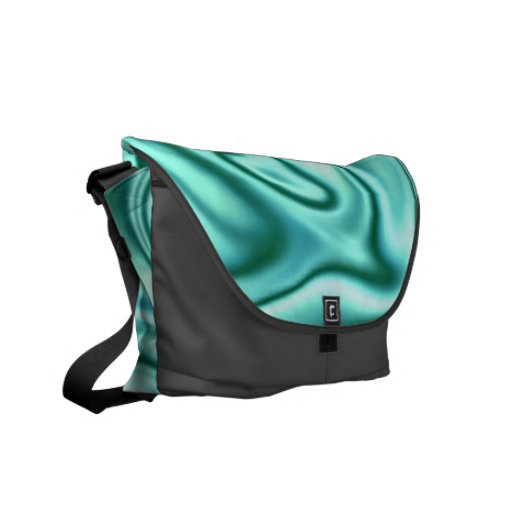 fluid art01 green messenger bags