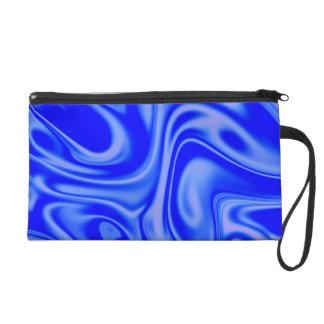 fluid art01inky blue wristlet clutch