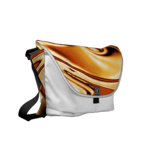 fluid art 01 golden courier bag