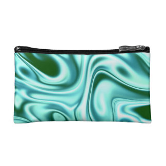 fluid art 01 green cosmetic bags