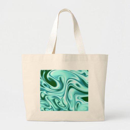 fluid art 01 green tote bag