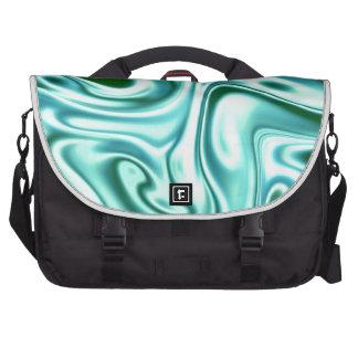fluid art 01 green commuter bags