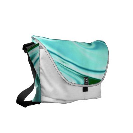 fluid art 01 green courier bag