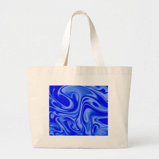 fluid art 01 inky blue bag
