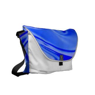 fluid art 01 inky blue messenger bag