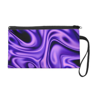 fluid art 01 purple wristlet purse
