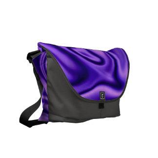 fluid art 01 purple messenger bag