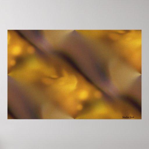 Fluid comfort warm abstract art print