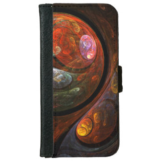 Fluid Connection Abstract Art iPhone 6 Wallet Case