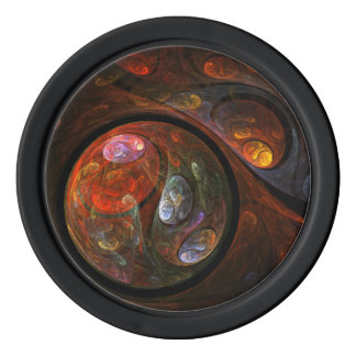 Fluid Connection Abstract Art Set Of Poker Chips