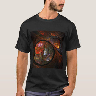 Fluid Connection Abstract Art T-Shirt