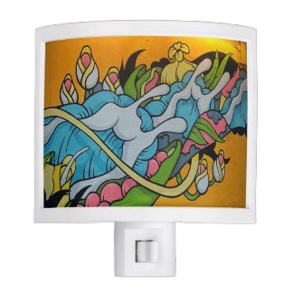 Fluid Flowers Streetart Night Light