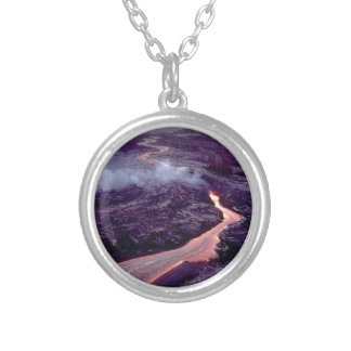 Fluid heat silver plated necklace