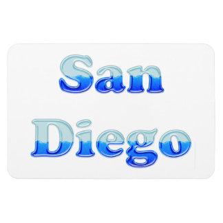 Fluid San Diego - On White Rectangular Photo Magnet