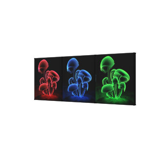 Fluorescence Tryptych Canvas Print