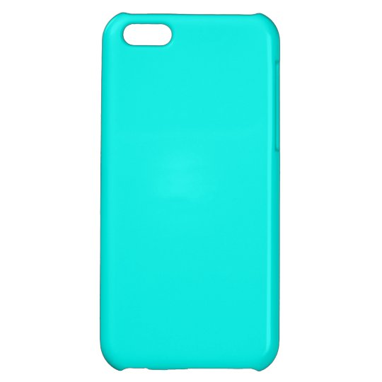 Fluorescent Aqua Teal Turquoise Blue Personalized Cover For iPhone 5C