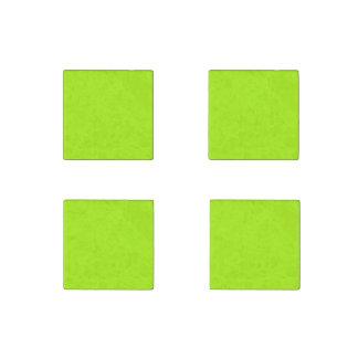 Fluorescent Green Stone Magnet