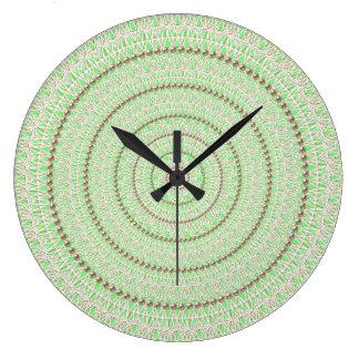 Fluorescent Green Pearl Wall Clock