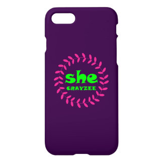 Fluorescent Green She Crayzee iPhone 8/7 Case