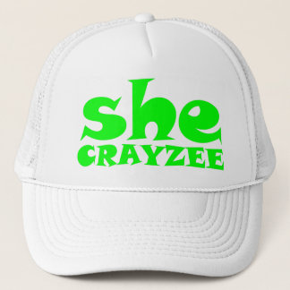 Fluorescent Green She Crayzee Trucker Hat