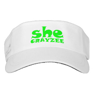 Fluorescent Green She Crayzee Visor