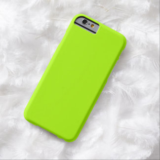 Fluorescent Green Solid Color Barely There iPhone 6 Case