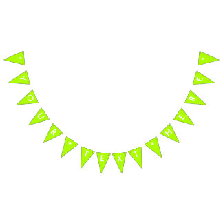 Fluorescent Green Solid Color Customize It Bunting Flags