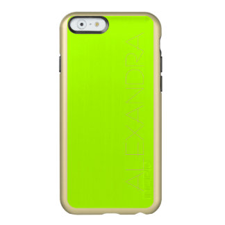 Fluorescent Green Solid Color Incipio Feather® Shine iPhone 6 Case