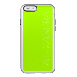 Fluorescent Green Solid Color Incipio Feather® Shine iPhone 6 Case