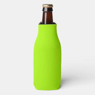 Fluorescent Green Solid Colour Bottle Cooler
