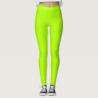 Fluorescent Green Solid Colour Customize It Leggings