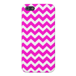 Fluorescent Hot Pink Chevron Pattern iPhone 5/5S Cases