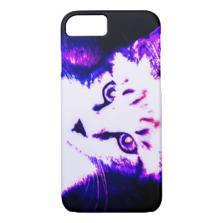 Fluorescent Kitty iPhone 7, Barely there case