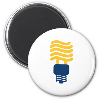 Fluorescent Light Bulb 2 Inch Round Magnet