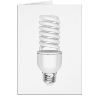 Fluorescent light bulb card