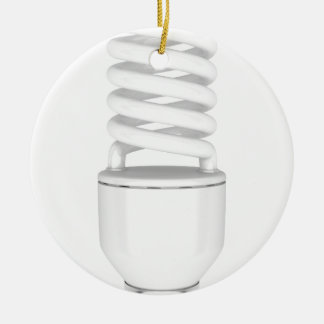 Fluorescent light bulb ceramic ornament