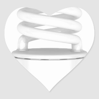 Fluorescent light bulb heart sticker
