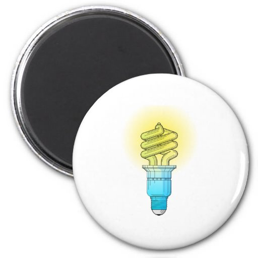 Fluorescent Light Bulb Refrigerator Magnets