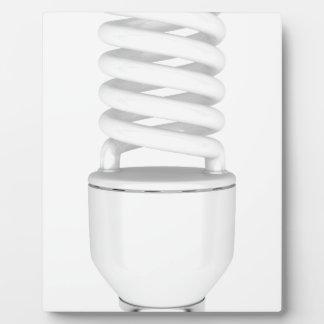 Fluorescent light bulb plaque