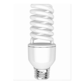 Fluorescent light bulb postcard